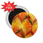 Fall Colors Leaves Pattern 2.25  Magnets (10 pack)  Front