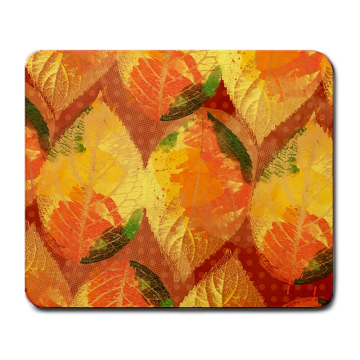 Fall Colors Leaves Pattern Large Mousepads