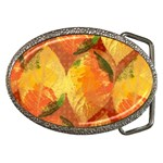 Fall Colors Leaves Pattern Belt Buckles Front