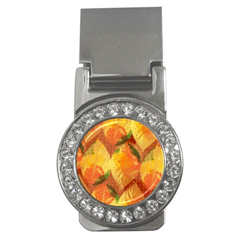 Fall Colors Leaves Pattern Money Clips (CZ)