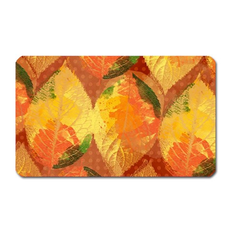 Fall Colors Leaves Pattern Magnet (Rectangular)
