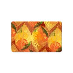 Fall Colors Leaves Pattern Magnet (name Card)