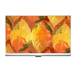 Fall Colors Leaves Pattern Business Card Holders Front