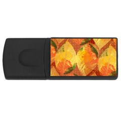 Fall Colors Leaves Pattern USB Flash Drive Rectangular (2 GB)