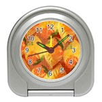 Fall Colors Leaves Pattern Travel Alarm Clocks Front