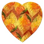 Fall Colors Leaves Pattern Jigsaw Puzzle (Heart) Front