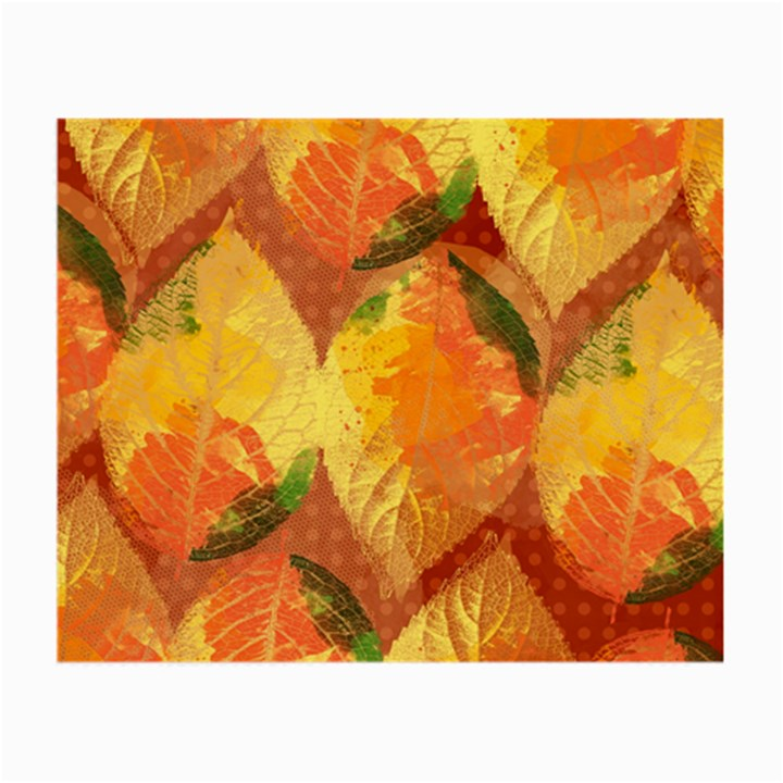 Fall Colors Leaves Pattern Small Glasses Cloth