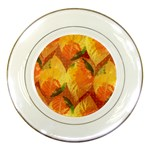 Fall Colors Leaves Pattern Porcelain Plates Front