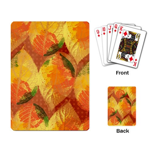 Fall Colors Leaves Pattern Playing Card