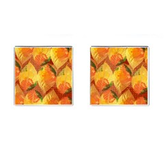Fall Colors Leaves Pattern Cufflinks (Square)