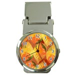 Fall Colors Leaves Pattern Money Clip Watches Front