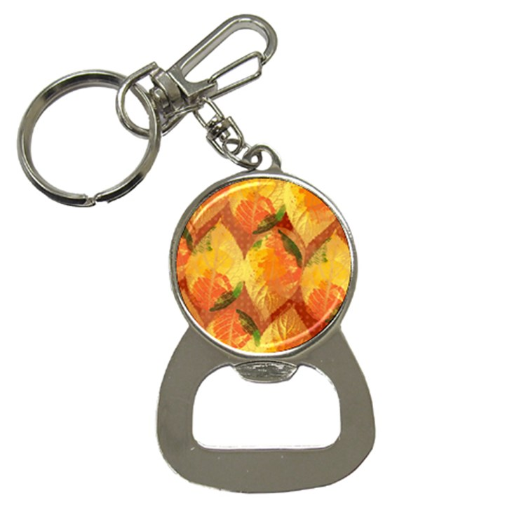 Fall Colors Leaves Pattern Bottle Opener Key Chains