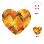 Fall Colors Leaves Pattern Playing Cards (Heart)  Front