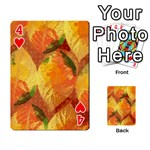 Fall Colors Leaves Pattern Playing Cards 54 Designs  Front - Heart4