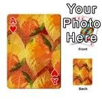 Fall Colors Leaves Pattern Playing Cards 54 Designs  Front - HeartA