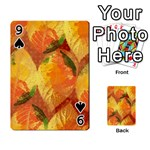 Fall Colors Leaves Pattern Playing Cards 54 Designs  Front - Spade9