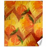 Fall Colors Leaves Pattern Canvas 8  x 10  10.02 x8 Canvas - 1