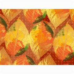 Fall Colors Leaves Pattern Canvas 12  X 16