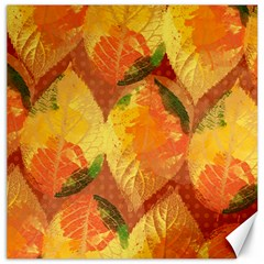 Fall Colors Leaves Pattern Canvas 16  X 16