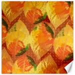Fall Colors Leaves Pattern Canvas 16  x 16   16 x16 Canvas - 1