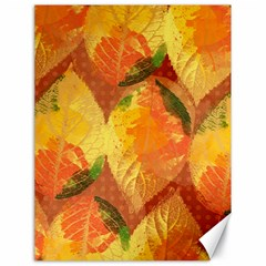 Fall Colors Leaves Pattern Canvas 18  x 24