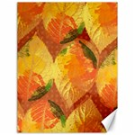 Fall Colors Leaves Pattern Canvas 18  x 24   24 x18 Canvas - 1