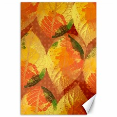 Fall Colors Leaves Pattern Canvas 24  x 36