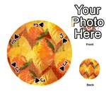 Fall Colors Leaves Pattern Playing Cards 54 (Round)  Front - SpadeJ