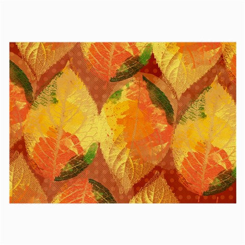Fall Colors Leaves Pattern Large Glasses Cloth
