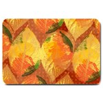 Fall Colors Leaves Pattern Large Doormat  30 x20 Door Mat - 1