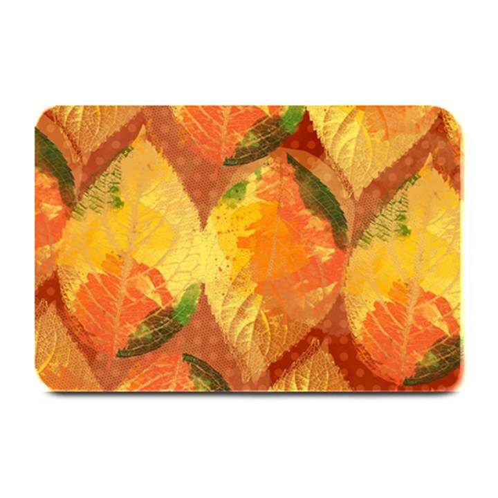 Fall Colors Leaves Pattern Plate Mats