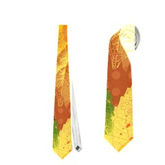 Fall Colors Leaves Pattern Neckties (One Side)