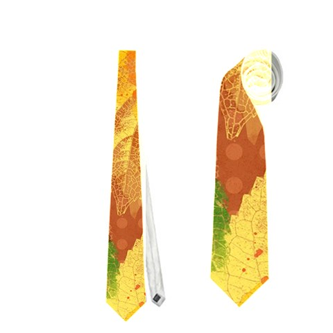 Fall Colors Leaves Pattern Neckties (Two Side)