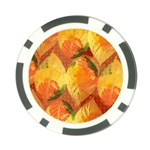 Fall Colors Leaves Pattern Poker Chip Card Guards Front