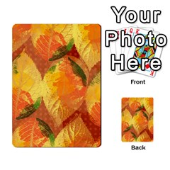 Fall Colors Leaves Pattern Multi Purpose Cards (rectangle)