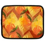 Fall Colors Leaves Pattern Netbook Case (Large) Front