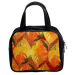 Fall Colors Leaves Pattern Classic Handbags (2 Sides) Front