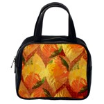 Fall Colors Leaves Pattern Classic Handbags (2 Sides) Back