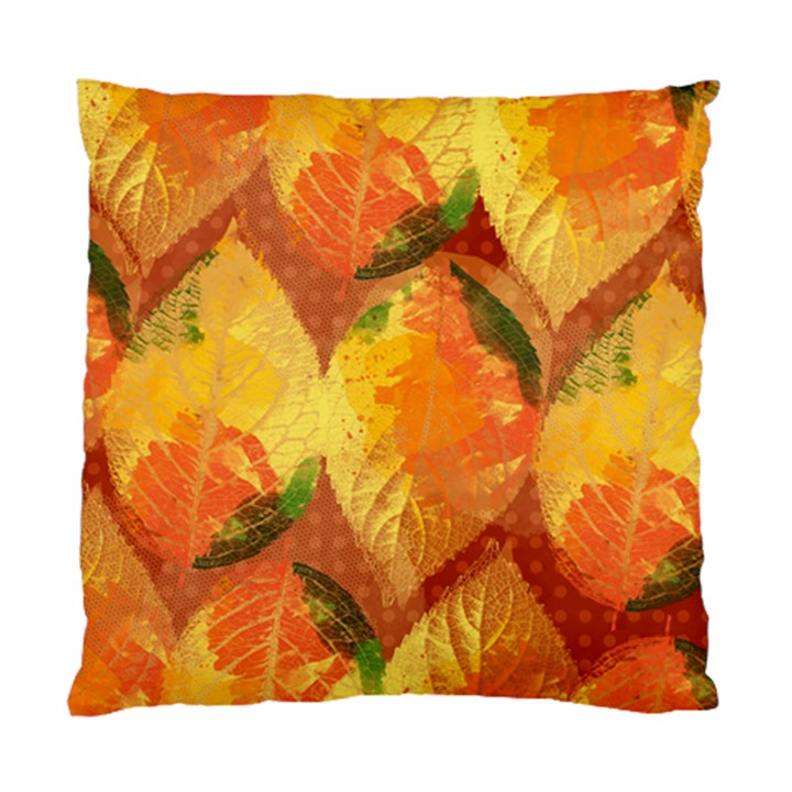 Fall Colors Leaves Pattern Standard Cushion Case (Two Sides)