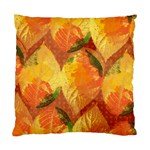 Fall Colors Leaves Pattern Standard Cushion Case (Two Sides) Back