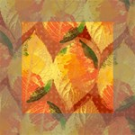 Fall Colors Leaves Pattern Mini Canvas 4  x 4  4  x 4  x 0.875  Stretched Canvas