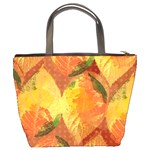 Fall Colors Leaves Pattern Bucket Bags Back