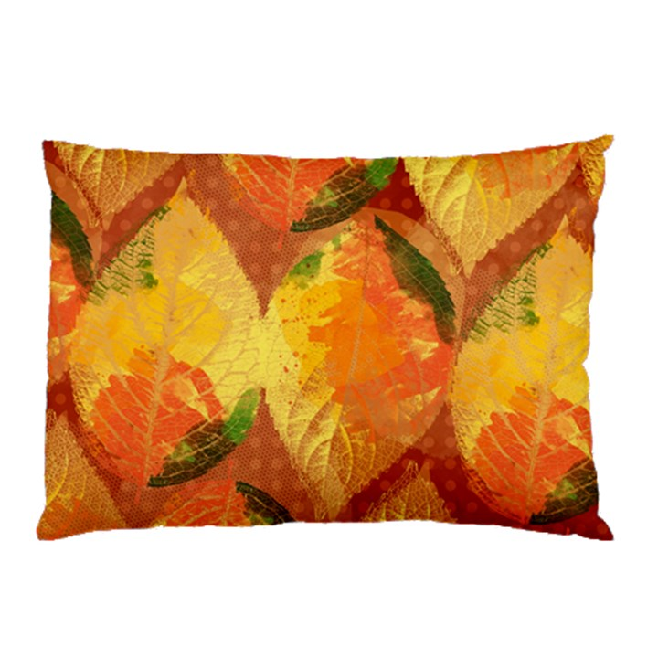 Fall Colors Leaves Pattern Pillow Case