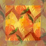 Fall Colors Leaves Pattern Mini Canvas 6  x 6  6  x 6  x 0.875  Stretched Canvas