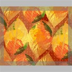 Fall Colors Leaves Pattern Canvas 14  x 11  14  x 11  x 0.875  Stretched Canvas
