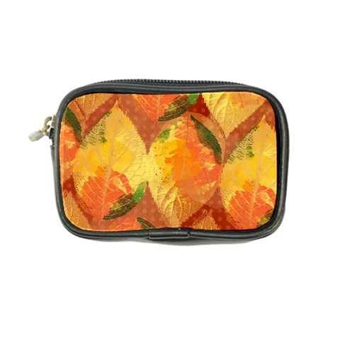 Fall Colors Leaves Pattern Coin Purse