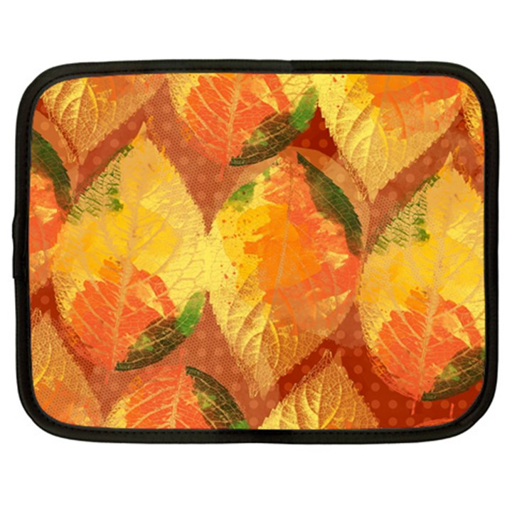 Fall Colors Leaves Pattern Netbook Case (XL)