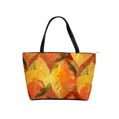 Fall Colors Leaves Pattern Shoulder Handbags