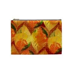 Fall Colors Leaves Pattern Cosmetic Bag (medium)