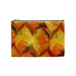 Fall Colors Leaves Pattern Cosmetic Bag (Medium)  Front